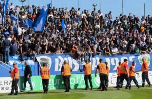 Les ultras Corses, ayant provoqué de nombreux incidents