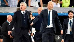 Zidane et Ancelotti.